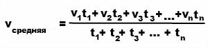 формула средней сорости